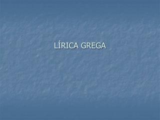 L RICA GREGA