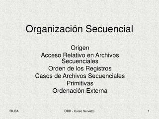 Organizaci n Secuencial