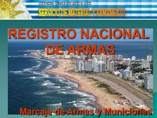 REGISTRO NACIONAL  DE ARMAS           Marcaje de Armas y Municiones