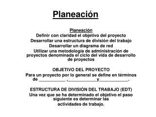 Planeaci n