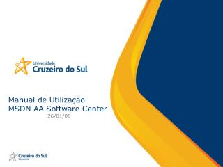 Manual de Utiliza  o MSDN AA Software Center 26