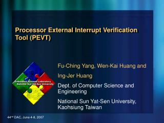 Processor External Interrupt Verification Tool PEVT