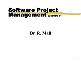 Software Project Management Lecture 9