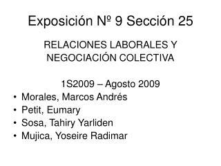 Exposici n N  9 Secci n 25