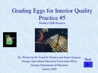 Grading Eggs for Interior Quality Practice 5 Poultry CDE Practice