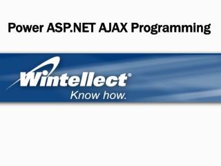Power ASP AJAX Programming