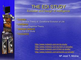 Evolution  General Theory of  Conditional Evolution of Life  Intelligence  Global Cognitive Theory  Statistical research