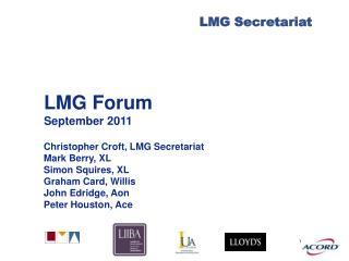 LMG Forum September 2011