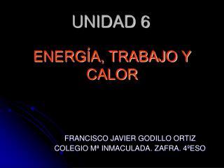 ENERG A, TRABAJO Y CALOR