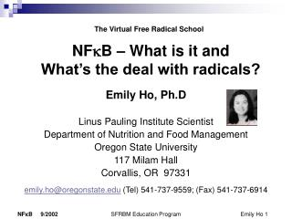 NFkB   What is it and  What s the deal with radicals