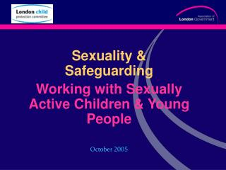 Sexuality  Safeguarding Working with Sexually Active Children  Young People   October 2005