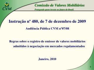 Comiss o de Valores Mobili rios Protegendo quem investe no futuro do Brasil.