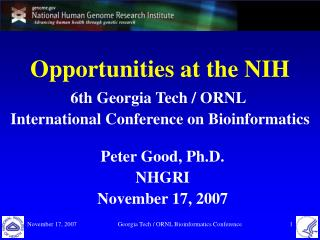 Opportunities at the NIH