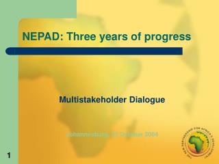 NEPAD: Three years of progress