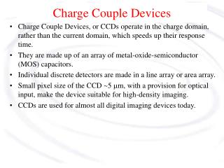 Charge Couple Devices