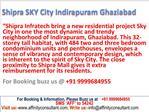 New flats in Indirapuram Ghaziabad, 09999684955 , Shipra