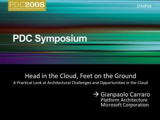 PDC Symposium