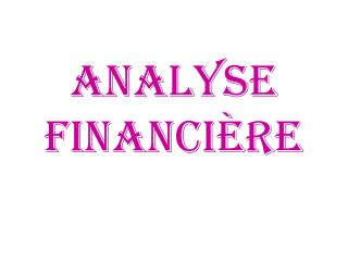 Analyse financi re