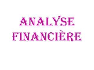 Analyse financi re