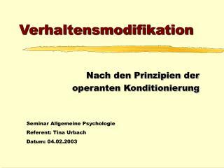 Verhaltensmodifikation