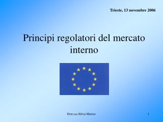 Principi regolatori del mercato interno