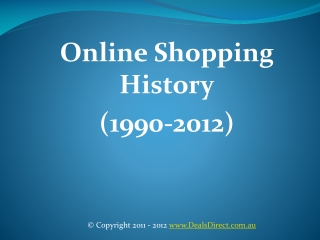 Online shopping history