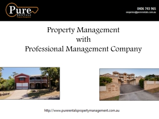 Property Management with Professional Management Company
