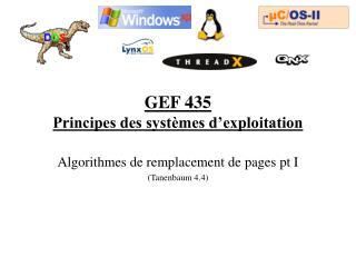 GEF 435 Principes des syst mes d exploitation