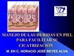 MANEJO DE LAS HERIDAS EN PIEL PARA FACILITAR SU CICATRIZACI N
