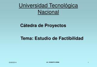 Universidad Tecnol gica Nacional