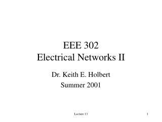 EEE 302 Electrical Networks II