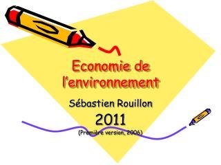 Economie de l environnement