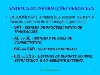 SISTEMAS DE INFORMA  ES GERENCIAIS