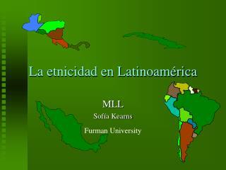 La etnicidad en Latinoam rica
