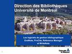 Direction des Biblioth ques Universit  de Montr al