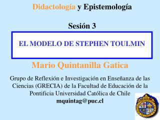 Didactolog a y Epistemolog a  Sesi n 3