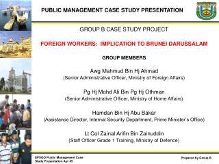 PUBLIC MANAGEMENT CASE STUDY PRESENTATION