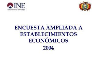 ENCUESTA AMPLIADA A ESTABLECIMIENTOS ECON MICOS                        2004