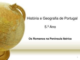 Hist ria e Geografia de Portugal  5.  Ano