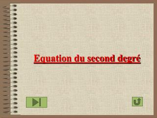 Equation du second degr