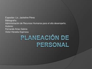 Planeaci n de Personal