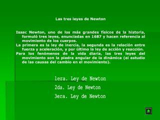 1era. Ley de Newton