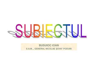 SUBIECTUL
