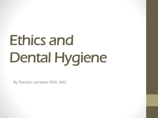 Ethics  Dental Researches