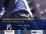 JOB SEARCH SKILLS  STRATEGIES