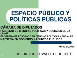 ESPACIO P BLICO Y POL TICAS P BLICAS
