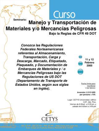 Conozca las Regulaciones Federales Norteamericanas referentes al Almacenamiento, Transportaci n, Carga y Descarga, Marca