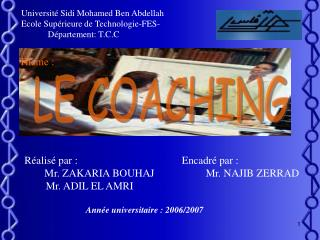 Universit  Sidi Mohamed Ben Abdellah Ecole Sup rieure de Technologie-FES-             D partement: T.C.C