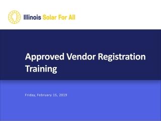 Vendor Quality Assurance Evaluation Program