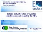 Estado actual de los proyectos el ctricos en el registro de MDL